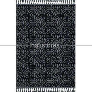 Etnik Desenli Siyah Yolluk Kilim Rönesans 9206RK - Thumbnail