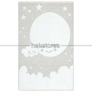 Gökyüzü Desenli Çift Taraflı Çocuk ve Bebek Halısı 02 Gri - Thumbnail