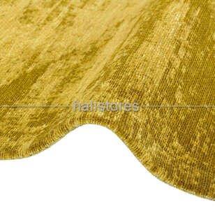İnce Modern Salon Halısı 01 Altın - Thumbnail