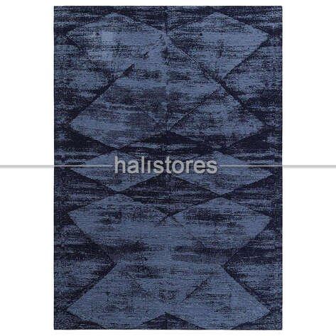 İnce Modern Salon Halısı 01 Mavi