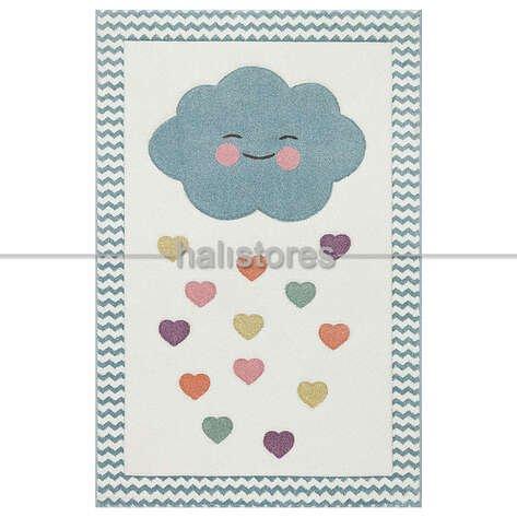 Kalpli Bulut Desenli Çocuk ve Bebek Halısı