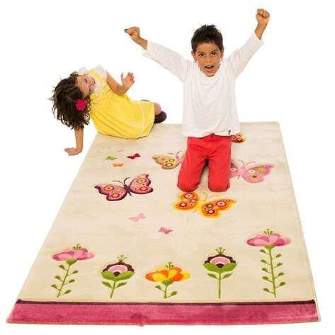 Kelebekli Çocuk Halısı Kids 505