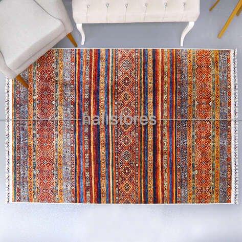 Kilim Desenli Renkli Halı Milas 5093