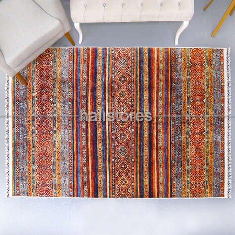 Kilim Desenli Renkli Yolluk Halı Milas 5093