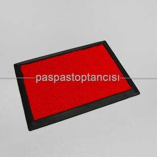 Paspas Toptancısı - Kırmızı Kıvırcık Paspaslı Kauçuk Hijyen Paspas (1)