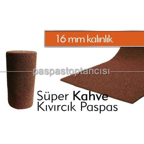 Kıvırcık Paspas Süper 16 mm Kahve