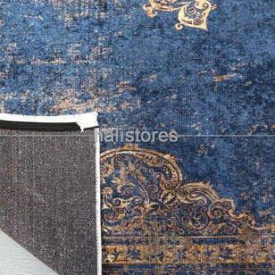 Klasik Desenli Lacivert Yolluk Halı Zen 1905 - Thumbnail