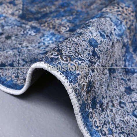 Klasik Desenli Mavi Halı Zen 1786