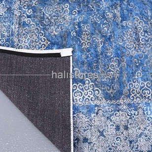 Klasik Desenli Mavi Halı Zen 1786 - Thumbnail