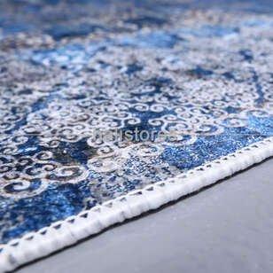 Klasik Desenli Mavi Yolluk Halı Zen 1786 - Thumbnail