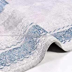 Halıstores - Klasik Mavi Salon Halısı Babil 2006MV (1)