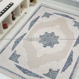 Halıstores - Klasik Mavi Salon Halısı Bella 1001GM (1)