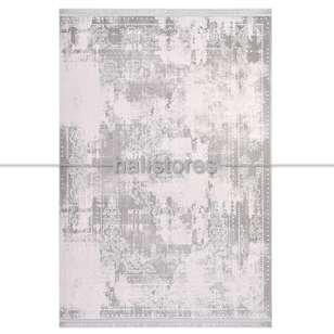 Krem Çerçeveli Gri Klasik Salon Halısı Galaxy 13406 - Thumbnail