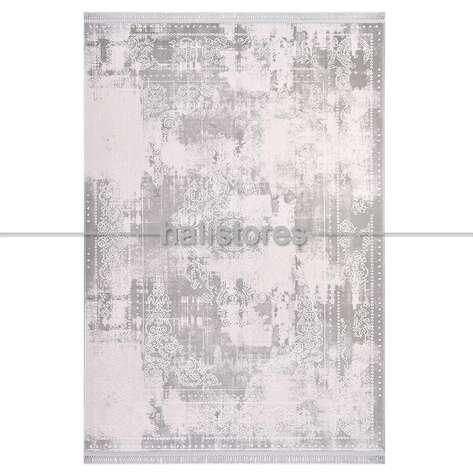 Krem Çerçeveli Gri Klasik Salon Halısı Galaxy 13406