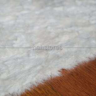 Liviadora Micropost Tüylü Halı Beyaz - Thumbnail