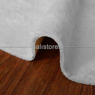 Liviadora Micropost Tüylü Yuvarlak Halı Beyaz - Thumbnail