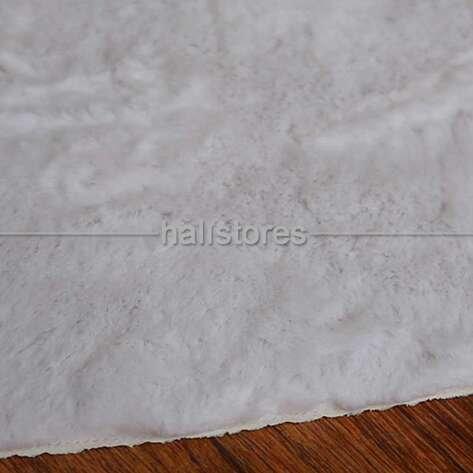 Liviadora Micropost Tüylü Yuvarlak Halı Beyaz