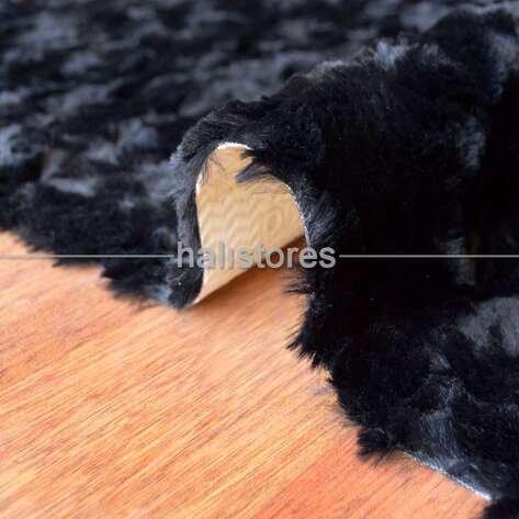Liviadora Micropost Tüylü Yuvarlak Halı Siyah