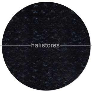 Liviadora Micropost Tüylü Yuvarlak Halı Siyah - Thumbnail