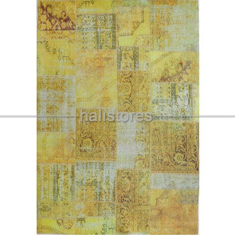 Liviadora Patchwork Desenli Sarı Halı