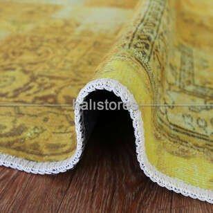 Liviadora Patchwork Desenli Sarı Halı - Thumbnail
