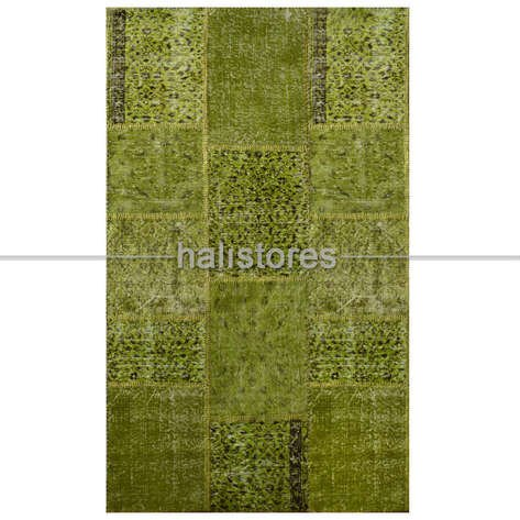 Liviadora Patchwork Halı Fıstık Yeşili