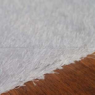 Liviadora Tüylü Halı Beyaz - Thumbnail