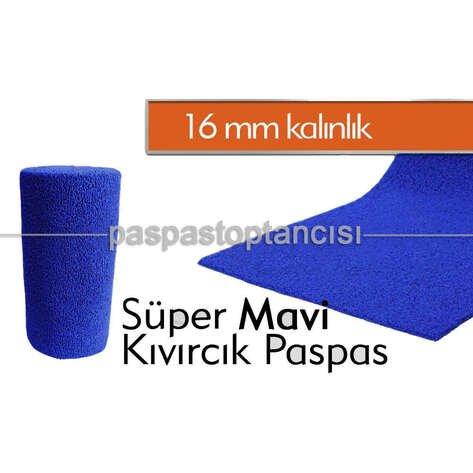 Mavi Kıvırcık Paspas 16 mm