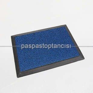 Paspas Toptancısı - Mavi Kıvırcık Paspaslı Kauçuk Hijyen Paspas (1)