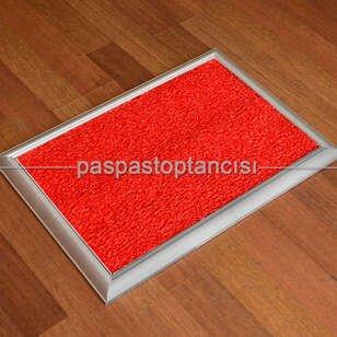 Paspas Toptancısı - Metal Paspas Hijyen Paspası Kırmızı (1)