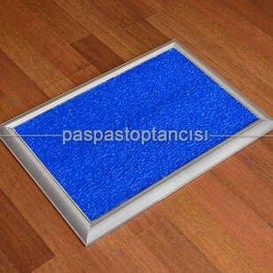Paspas Toptancısı - Metal Paspas Hijyen Paspası Mavi (1)