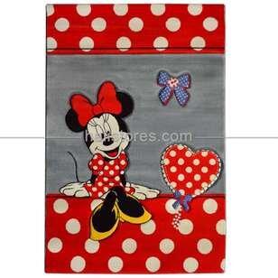 Minnie Mouse Puantiyeli Çocuk Halıları Kids 522 - Thumbnail