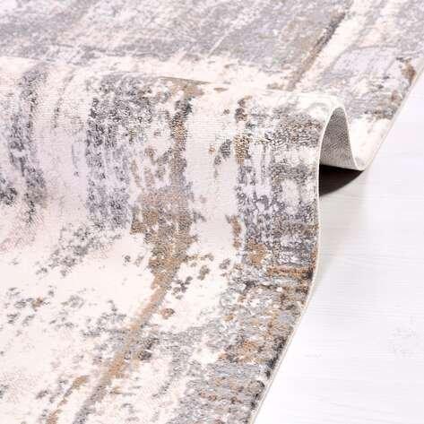 Modern Bej Salon Halısı Babil 2012BGR