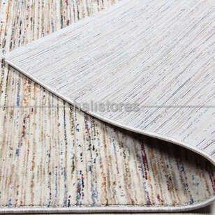 Modern Desenli Bej Yolluk Halı Altay - Thumbnail
