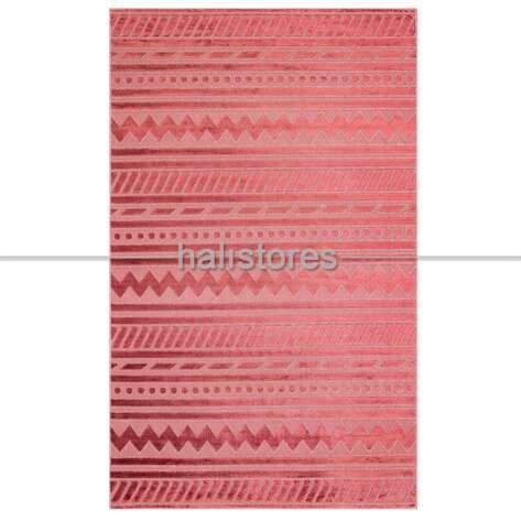 Modern Desenli Bordo Halı Zenith ZNT 06 Dyed