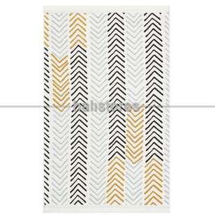 Modern Desenli Kilim Halı Arya Ar 19 Sarı Gri - Thumbnail