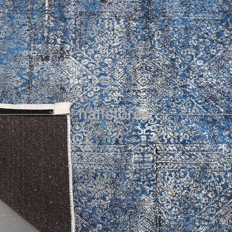 Modern Desenli Mavi Halı Zen 1847