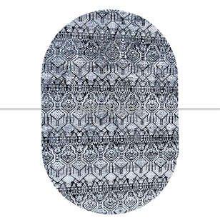Modern Desenli Oval Halı Java 17512 - Thumbnail