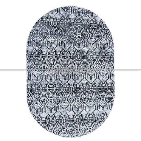 Modern Desenli Oval Halı Java 17512