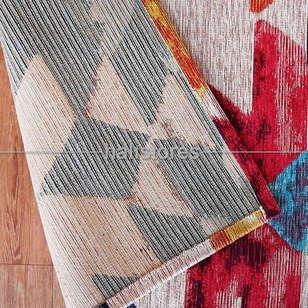 Modern Desenli Renkli Baskılı Yolluk Halı SM 11 Çok Renkli - Thumbnail