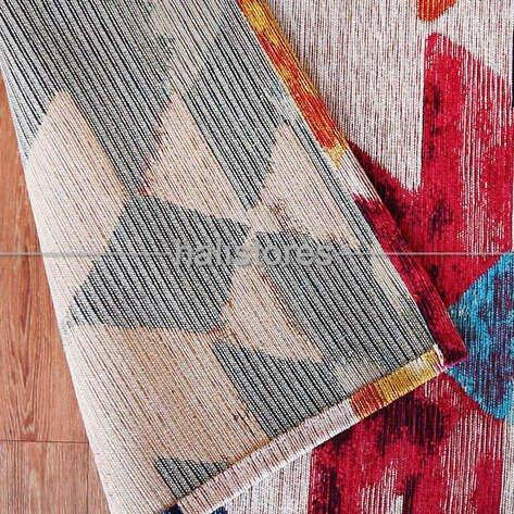 Modern Desenli Renkli Baskılı Yolluk Halı SM 11 Çok Renkli