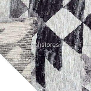 Modern Desenli Renkli Baskılı Yolluk Halı SM 11 Gümüş - Thumbnail