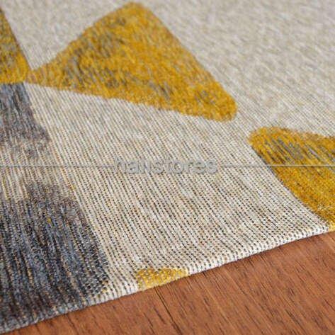 Modern Desenli Renkli Baskılı Yolluk Halı SM 11 Sarı