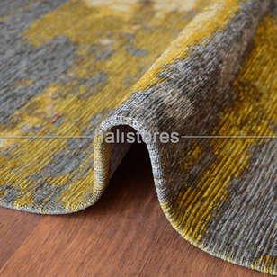Modern Desenli Renkli Baskılı Yolluk Halı SM 12 Turuncu - Thumbnail
