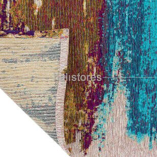 Modern Desenli Renkli Baskılı Yolluk Halı SM 36 Çok Renkli - Thumbnail