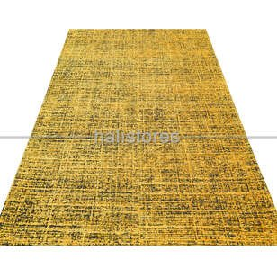 Modern Desenli Sarı Halı CPL 03 - Thumbnail
