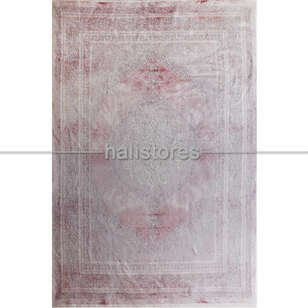 Halıstores - Modern Lastikli Pudra Halı Örtüsü 02 (1)