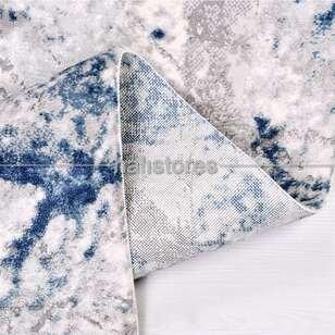 Modern Mavi Salon Halısı Babil 2007MV - Thumbnail