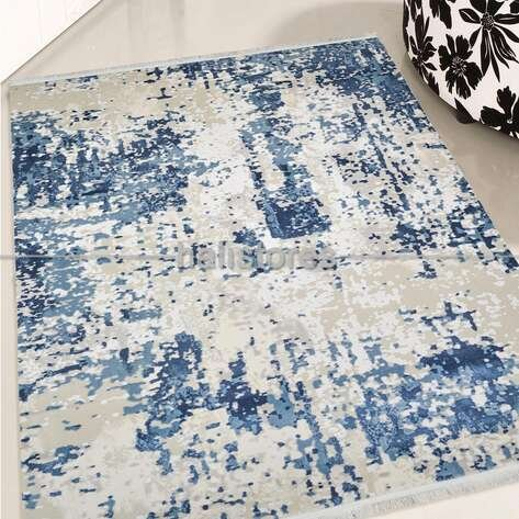Modern Mavi Salon Halısı Bella 1006GM
