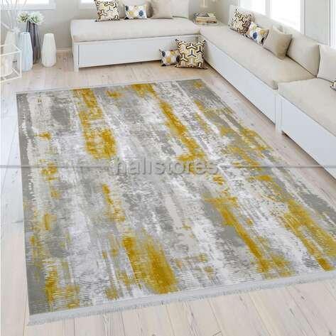 Modern Sarı Salon Halısı Bella 1007GS